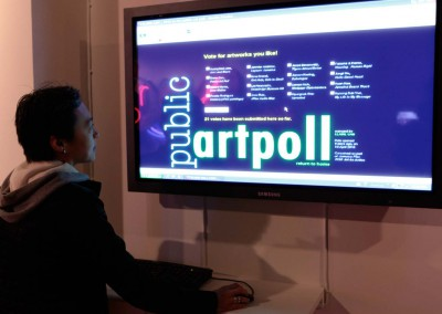 Public Art Poll, 2010, interactive mobile phone project
